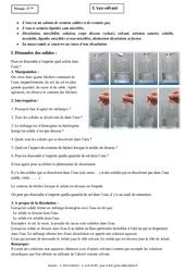 Eau solvant - Cours - Physique - Chimie : 1ere Secondaire