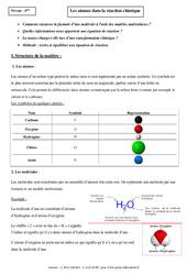 Atomes dans la réaction chimique - Cours - Physique - Chimie : 2eme Secondaire