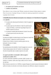Production alimentaire par l'élevage ou la culture - Cours - SVT : 6eme Primaire
