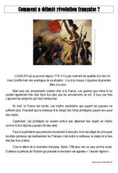 Révolution française - Exercices corrigés - Temps modernes : 4eme, 5eme Primaire