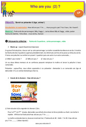 Who are you (2) - Anglais : 1ere Primaire