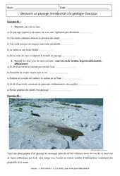 Découvrir un paysage, introduction à la géologie - Exercices corrigés - Remédiation - SVT : 1ere Secondaire