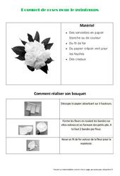 Créer un bouquet de roses en papier pour le printemps - Arts plastiques : 3eme, 4eme, 5eme Primaire