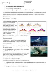 Volcanisme - Cours - Globe terrestre - SVT : 2eme Secondaire