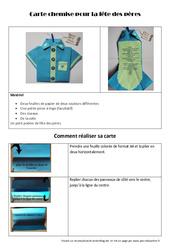 Carte chemise pour la fête des pères - Arts plastiques : 3eme, 4eme, 5eme Primaire