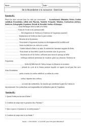 De la fécondation à la naissance - Exercices corrigés - Remédiation - SVT : 2eme Secondaire