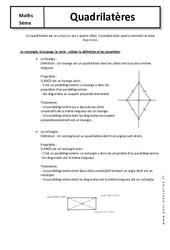Quadrilatères - Cours - Géométrie : 1ere Secondaire