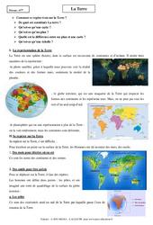 Terre - Cours - Géographie : 6eme Primaire
