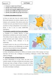 France - Cours - Géographie : 6eme Primaire