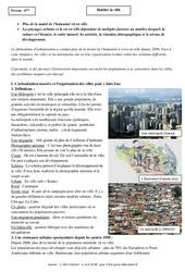 Habiter la ville - Cours - Géographie : 6eme Primaire
