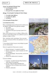 Habiter la ville - Etudes de cas - Géographie : 6eme Primaire