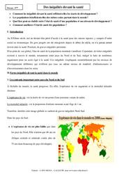 Inégalités devant la santé - Cours - Géographie : 1ere Secondaire