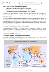 La question de l'énergie - Etude de cas - Géographie : 1ere Secondaire