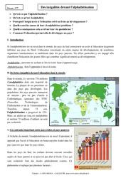 Inégalités devant l'alphabétisation - Cours - Géographie : 1ere Secondaire