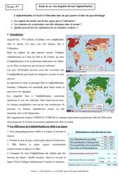 Inégalités devant l'alphabétisation - Etude de cas - Géographie : 1ere Secondaire
