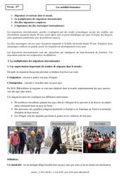 Mobilités humaines - Cours - Géographie : 2eme Secondaire