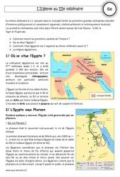 Egypte au IIIe millénaire - Exercices corrigés - Orient Ancien - Histoire : 6eme Primaire