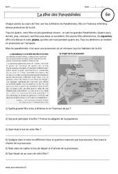 La fête des Panathénées - Etude de cas - Civilisation grecque : 6eme Primaire