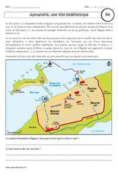 Alexandrie, une ville hellénistique - Etude de cas - Civilisation grecque : 6eme Primaire
