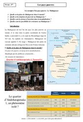 Pays pauvres - Etude de cas - Géographie : 2eme Secondaire