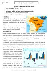 Puissances émergentes - Etude de cas - Géographie : 2eme Secondaire
