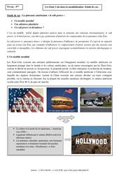 Etats Unis dans la mondialisation - Etude de cas - Géographie : 2eme Secondaire