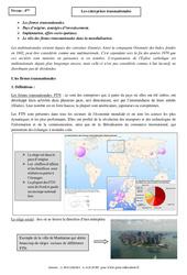 Entreprises transnationales - Cours - Géographie : 2eme Secondaire