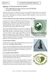 Entreprises transnationales - Etude de cas - Géographie : 2eme Secondaire