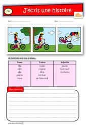Images séquentielles - Exercices - Production d'écrit : 2eme Primaire