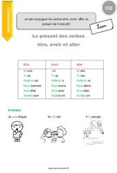 Comment conjuguer les verbes être, avoir, aller au présent de l'indicatif - Cours, Leçon : 3eme Primaire