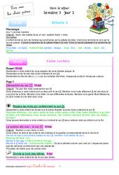 Semaine 3 - école à la maison - Fiches  : 1ere Primaire