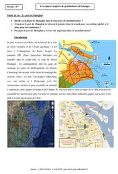 Le port de Shangaï - Les espaces majeurs de production et d'échanges - Etude de cas : 2eme Secondaire