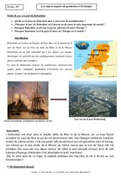 Le port de Rotterdam - Les espaces majeurs de production et d'échanges - Etude de cas : 2eme Secondaire