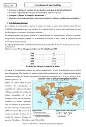 Les échanges de marchandises - Cours - Géographie : 2eme Secondaire