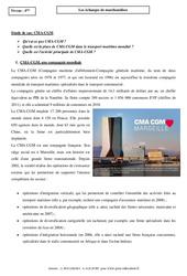 Les échanges de marchandises - Etude de cas - CMA - CGM : 2eme Secondaire