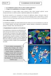 La mondialisation et la diversité culturelle - Cours - Géographie : 2eme Secondaire