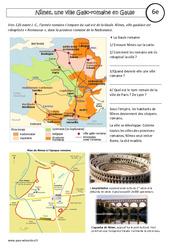 Nîmes - une ville gallo - romaine - Etude de cas - Rome : 6eme Primaire
