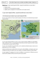 Le parc naturel régional du Pilat - Etude de cas - La France : 3eme Secondaire