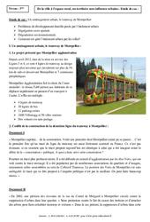 Le tramway de Montpellier - Etude de cas - La France : 3eme Secondaire