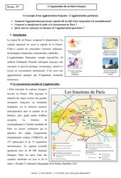 Organisation du territoire français - Etude de cas - Géographie : 3eme Secondaire