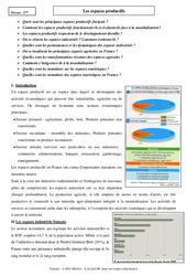 Les espaces productifs - Cours - Géographie : 3eme Secondaire