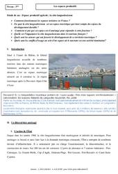 La côte languedocienne - Les espaces productifs - Etude de cas : 3eme Secondaire