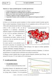 Le modèle agricole breton - Les espaces productifs - Etude de cas : 3eme Secondaire