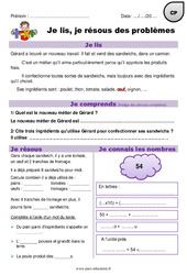 Addition, multiplication - Problèmes mathématiques en autonomie : 1ere Primaire