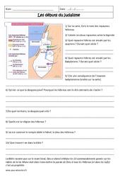 Débuts du judaïsme - Exercices corrigés : 6eme Primaire