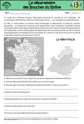 Bouches du Rhône - Etude du département - Géographie : 3eme, 4eme, 5eme Primaire