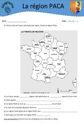 Provence - Alpes - Côte d'Azur PACA - Etude de la région - Géographie : 3eme, 4eme, 5eme Primaire